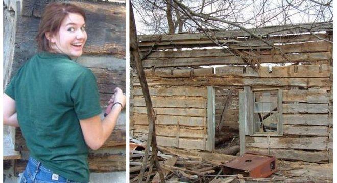 გოგონამ, რომელმაც ეს ქოხი 100 დოლარად იყიდა 1 თვეში მისგან საოცრება შექმნა