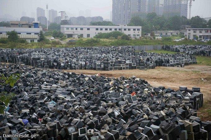 ტელევიზორების  სასაფლაო  ჩინეთში (6  ფოტო)