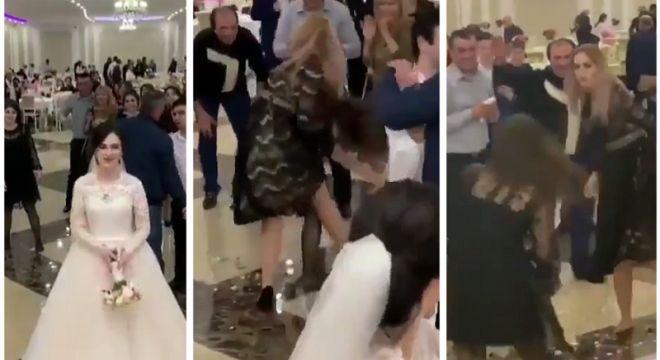 ქართველმა გაუთხოვარმა ქალებმა ქორწილში თაიგულის გამო ერთმანეთი სცემეს